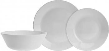 Jídelní sada talířů 18 ks opálové sklo