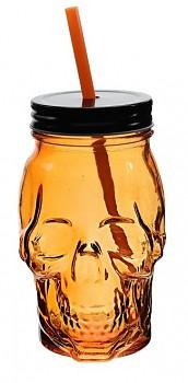 Sklenice na limonádu a koktejly LEBKA 450 ml oranžová