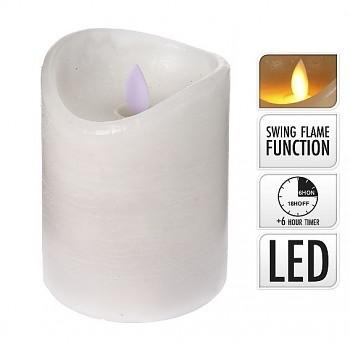 Svíčka LED bílá 7,5 x 10 cm