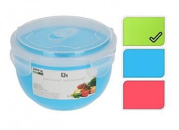 Miska do mikrovlnné trouby s víčkem 1 litr zelená