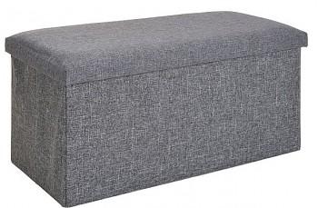Taburet / podsedák s úložným prostorem 73 cm šedá