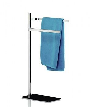 Držák na ručníky AMATIS pochromovaný kov / bezpečnostní sklo