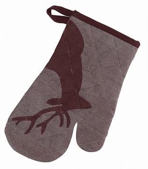 Chňapka rukavice HENRIK hnědá 28x18cm