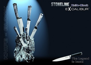 Sada nožů v bloku 6 ks Excalibur