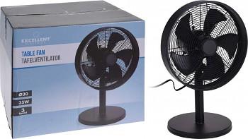 Ventilátor stolní 31 cm kovový černý
