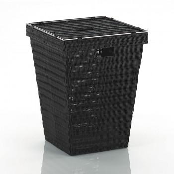 Koš na prádlo NOBLESSE PP plast, hnědý 40x40x53 cm