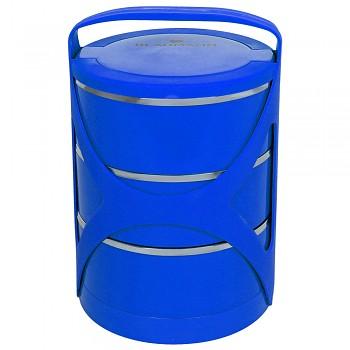 Jídlonosič třípatrový modrý