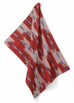 Utěrka ETHNO 100% bavlna, červená, 50x70cm