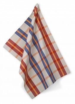 Utěrka ETHNO 100% bavlna, kostka červená, 50x70cm