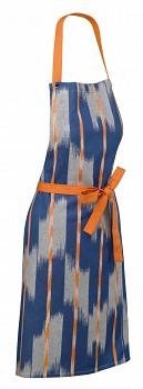 Zástěra ETHNO 100% bavlna, modrá, 67x80cm
