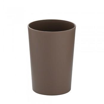 Pohárek MARTA plastik šedohnědá H 11cm / Ř 8cm