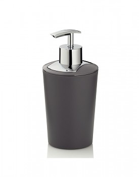 Dávkovač mýdla MARTA plastik šedá H 17cm / Ř 8cm / 350